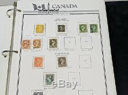 Stamp Pickers Canada 1859-1989 Parliament Album Estate Collection MH VFU $1675+