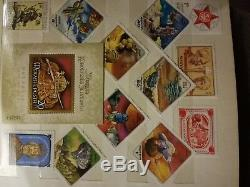 Stamp collection in album