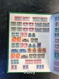 Stamp collection in album commonwealth stock book