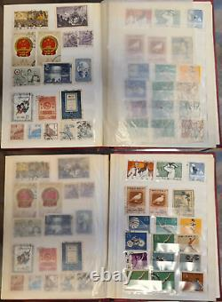Stamps collection. China. PRC. Stamp. 300 pieces. In the album. Mao Zedong