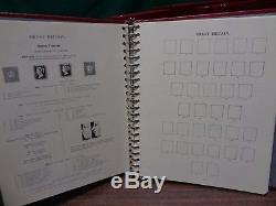 Stanley Gibbons Windsor 4 Vol Great Britain UK Stamp collection albums 1840-1995