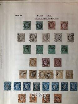 Superb France Napoleon-Ceres heads collection on five album pages cv £2000+