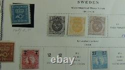 Sweden collection in Scott Specialty Album withmany many 100's stamps or so -'90