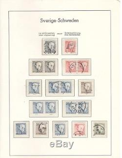 Swedish collection in Lighthouse hingeless album 1855-1969, allmost complete