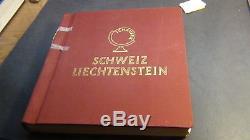 Switzerland stamp collection in Schaubek springback album to'59 + Liecth