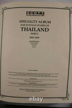 THAILAND Unused 1883-2008 3x Scott Album PREMIUM Investment Stamp Collection