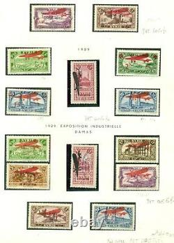 TUNISIA & SYRIA AIRMAIL COLLECTION, 31 album pages, Hinged & Used, Scott $3,600+