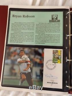 The World Cup Football Collection in 3 Albums Stamps, Signed Covers, Maxi Cards
