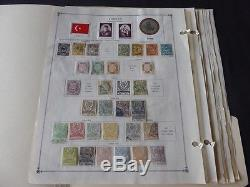 Turkey and Two Sicilies 1858-1940 Mint/Used Stamp Collection on Scott Int Album