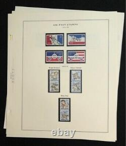U. S. Air Mail Collection On Album Pages Nearly Complete 1918-80