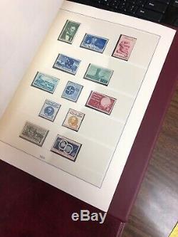 U. S. Collection Lindner Hingless Album 1937-1968 Cat $200+