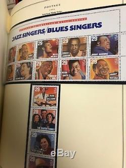 U. S. Stamp Collection Scotts National Album 1960-1994 Mnh Cat Value $1100+