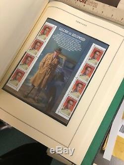 U. S. Stamp Collection Scotts National Album 1980s-1997 Mnh Cat Value $900+