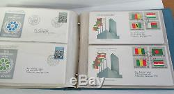 UNITED NATIONS COMMEMORATIVE FIRST DAY COVER Collection, 1976-1981 in Album