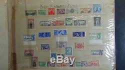 UNUSUAL WW stamp collection in Meine Kunst photo album with 100s