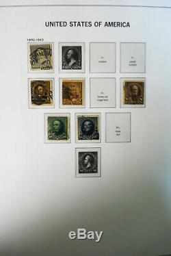 US 1800s to 1940s Stamp Collection in Pristine Davo Hingeless Album