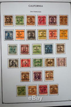 US Bureau Masterful Pre-Cancel Stamp Collection in Four Albums