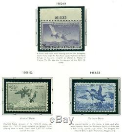 US DUCK STAMP COLLECTION #RW1-73, Complete to 2006, NH in album Scott $5,779