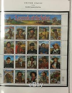 US MINT STAMP collection, 1991-1999, MNH, Minuteman album $426 actual face VAL