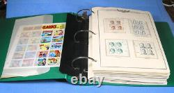 US MNH plate # block collection 1981-1990 face value $534, big lot in album
