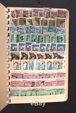 US Old Stamp Collection 6,000+ Used in Extremley Overstuffed Stock Book Album