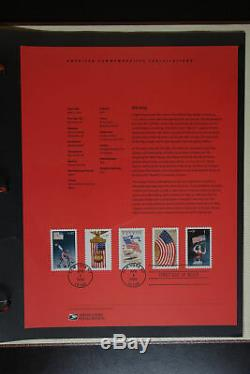 US Postal Service Massive Official Souvenir Page 18 Album Stamp Collection FDC