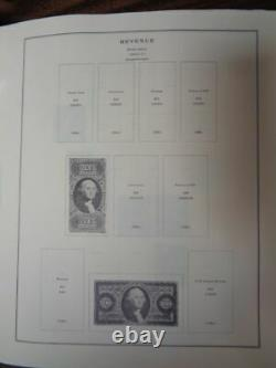 US Revenue Tax Stamp Collection on Vintage Scott Specialty Album pages 2 post