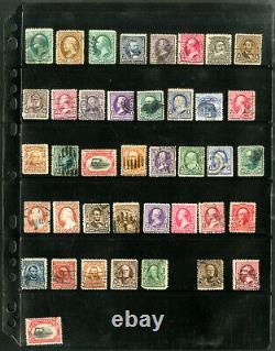 US Stamp Collection in Scott National Album 1847-1970 Scott Value $15,000+