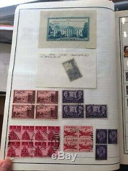 US Stamp Collection in Westinghouse album, Blocks, 116 pics