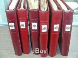 US, Superb one-man's Stamp Collection in a 6 Volume Lindner album