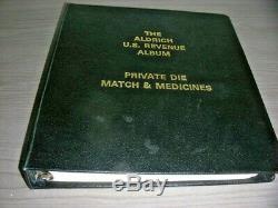 US, Wonderful Match & Medicine Stamp Collection mounted in a Aldrich album