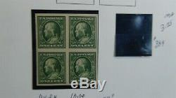 USA stamp collection in 3 ring White Ace album with est. 457 stamps'54