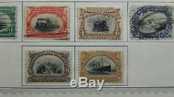 USA stamp collection on Minkus album pages to'93 or so with 2.100 stamps