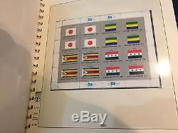 United Nations, 1980 to 2001 Flags MNH 54 Sheet Collection with Lindner Album