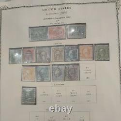 United States stamp collection in Old Scott album 1851 forward. Top of the line