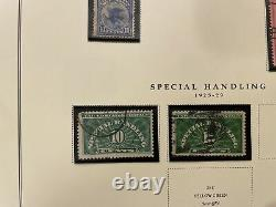 Us Stamp Collection On Scott Pages In The Album Classics All Pictured