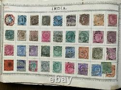 Valuable Worldwide Stamp Collection in Battered Old Lincoln Album Classics