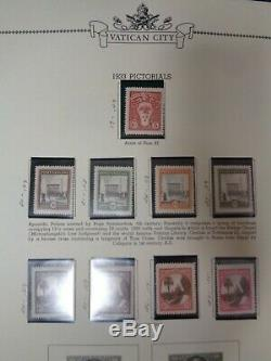 Vatican City Minkus Specialty 3 ring stamp album collection 1929-89 mint used