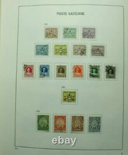 Vatican City Used collection till 2012 in Davo Album incl blocks and BOB