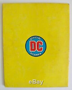Vintage 1976 Official DC Super Hero Stamp Album Comic Book All Stamps Attached