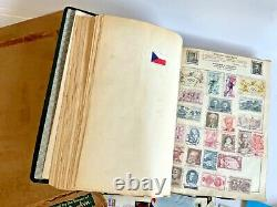 Vintage Original Worldwide Stamp Collection in Old Movealeaf Album With Box