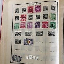 Vintage Stamp Album 1944 Scott International Worldwide Stamps Collection 160+