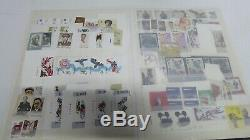Vintage Stamp Album Collection Mint Australian & Chinese Stamps Sheets Blocks