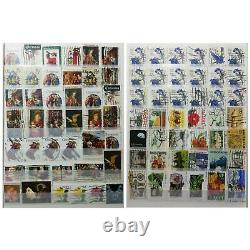 Vintage US Stamps Collection Album Lot, More Than 700 Used Stamps