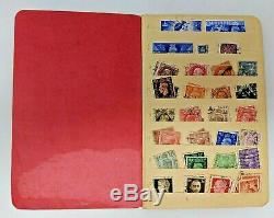 Vintage World Stamp Stock Book Collection Lot 100+ Stamps Worldwide Album Used