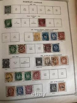 WORLD LARGE Ideal Albums OLD M&U Collection. Europe Usa Asia (Appx 5000 Stamps)ID
