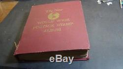WW A Ven. Stamp collection in Minkus album to'60 or so with 7,500 stamps
