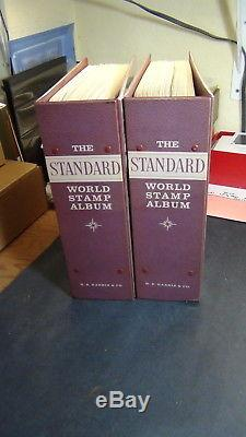WW stamp collection in 2 Vol. Harris Standard album in great shape to'71