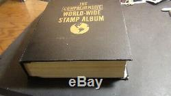 WW stamp collection in Minkus Comprehensive album with 1,000s or so stamps to'53