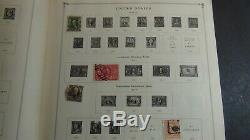 WW stamp collection in Scott Int'l album with 2,800 or so stamps copyright'47